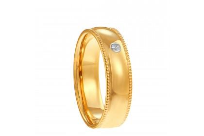 Oro Italia 916 White and Yellow Gold Ring (3.63G) GR44611220-BI