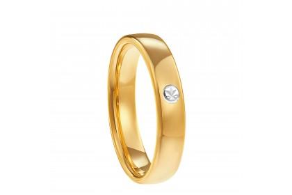 Oro Italia 916 White and Yellow Gold Ring (3.65G) GR4242-BI