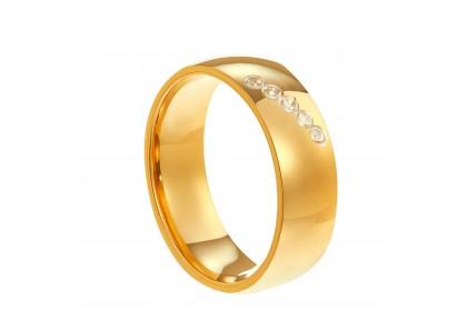 Oro Italia 916 White and Yellow Gold Ring (4.48G) GR44621220-BI
