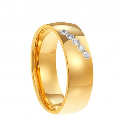 Oro Italia 916 White and Yellow Gold Ring (4.43G) GR44621220-BI