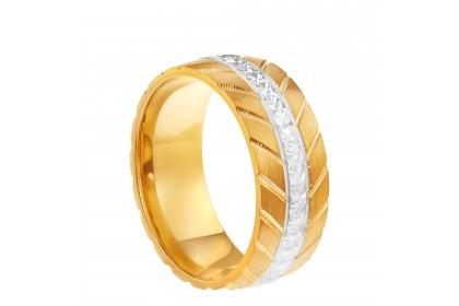 Oro Italia 916 White and Yellow Gold Ring (4.82G) GR44591220-BI