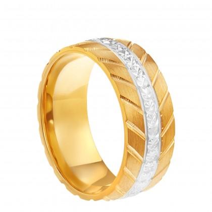 Oro Italia 916 White and Yellow Gold Ring (4.62G) GR44591220-BI