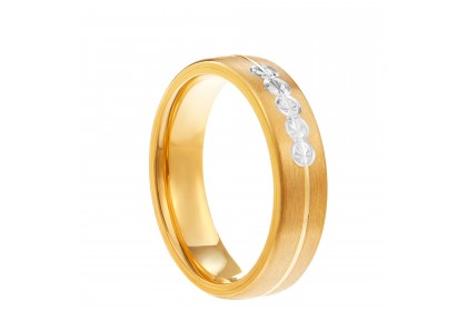 Oro Italia 916 White and Yellow Gold Ring (4.74G) GR4235-BI