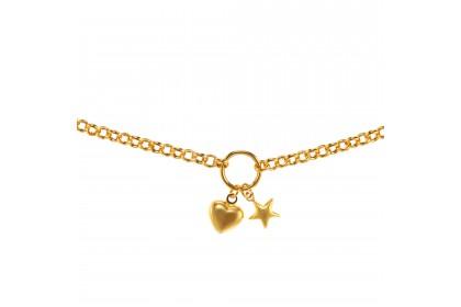 Oro Italia 916 Yellow Gold Bracelet (4.71G) GW3578