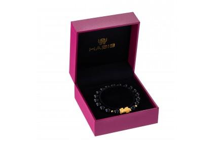 Pixiu Gemstone Bracelet in 999/24K Gold WWGB185
