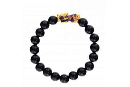 Pixiu Gemstone Bracelet in 999/24K Gold WWGB199
