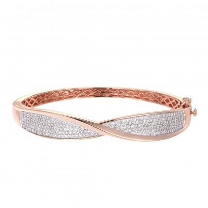 Noseis Rose Gold Diamond Bangle 25610(B)
