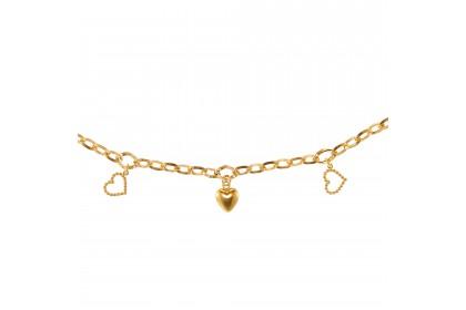 Oro Italia 916 Amore Yellow Gold Bracelet (6.07G) GW36420720