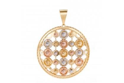 Oro Italia 916 White, Yellow and Rose Gold Pendant (12.21G) GP5062-TI