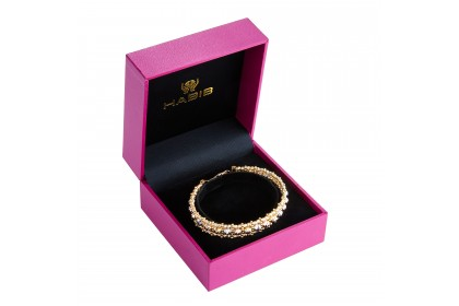 Oro Italia 916 Stella White, Yellow and Rose Gold Bangle (20.16G) GB8456-TI