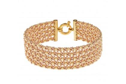 Oro Italia 916 Stella Yellow and Rose Gold Bangle (36.95G) GB83980920(R)-BI