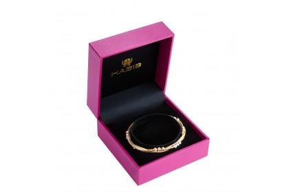 Oro Italia 916 Cavo White, Yellow and Rose Gold Bangle (12.61G) GB86700720-TI