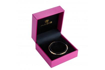Oro Italia 916 White, Yellow and Rose Gold Bangle (5.32G) GB86880820-TI