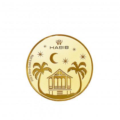 Rantaian Kasih Kampung House Gold Wafer Coin, 999 Gold (0.20G)