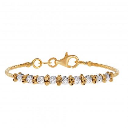 Oro Italia 916 Baby White and Yellow Gold Bangle (3.80) GB83990221(BBY)-BI
