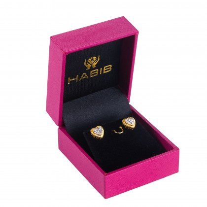 Oro Italia 916 White and Yellow Gold Earrings (2.03G) GE71770121-BI