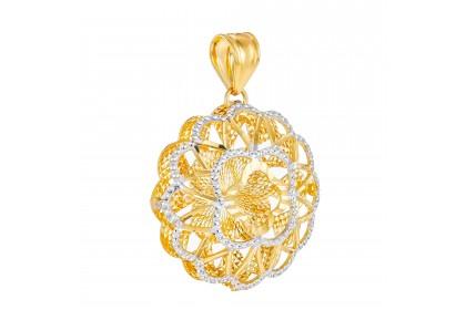 Oro Italia 916 White and Yellow Gold Pendant (2.42G) GP50860221-BI