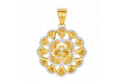Oro Italia 916 White and Yellow Gold Pendant (2.09G) GP50860221-BI