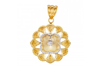 Oro Italia 916 White and Yellow Gold Pendant (5.47G) GP50880221-BI