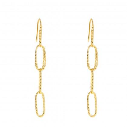 Oro Italia 916 Graffetta Yellow Gold Earrings (7.53G) GE71790121