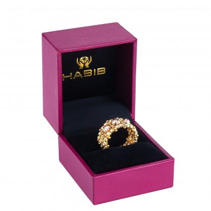 Oro Italia 916 Stella Yellow and Rose Gold Ring (7.13G) GR44870121(R)-BI