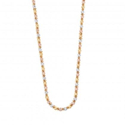 Oro Italia 916 White, Yellow and Rose Gold Necklace (39.03G) GC2423-TI