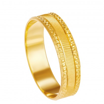 Gaby Yellow Gold Ring, 916 Gold (2.25G) R888(L)
