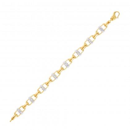 Tilda White and Yellow Gold Bracelet, 916 Gold (18.61G) B63851220