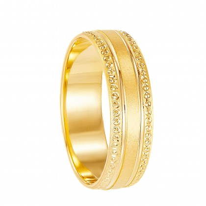 Arcella Yellow Gold Ring, 916 Gold (2.93G) R276(I)
