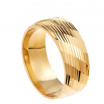 Oro Italia 916 Yellow Gold Ring (5.16G) GR44551220