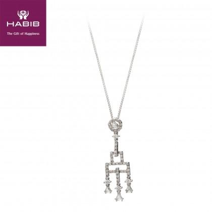 Zar Zar Diamond Necklace in 750/18K White Gold p20630007