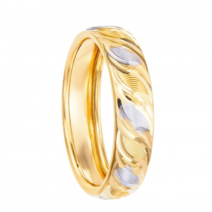Aethra White and Yellow Gold Ring, 916 Gold (2.01G) R101306(A)