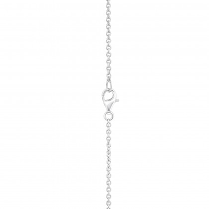 V Collection Twisted Pear and Round Diamond Necklace in 750/18K White Gold 558210221