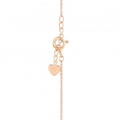 Channel Set Round and Baguette Diamond Necklace in 375/9K Rose Gold 55667(N)