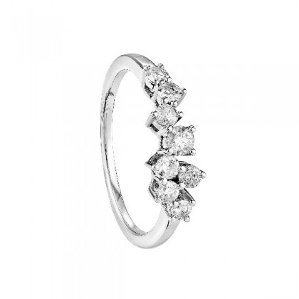Young Collection Round Diamond Ring in 375/9K White Gold 259150920