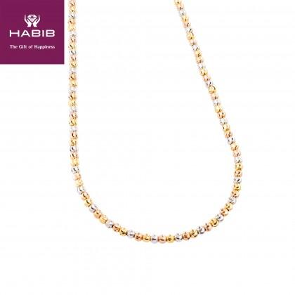 Oro Italia 916 Piccolo White, Yellow and Rose Gold Necklace (30.62GM) GC2466-TI