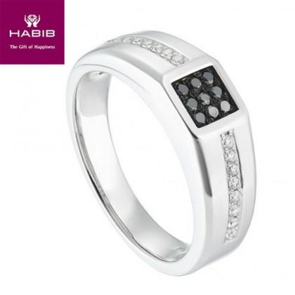Black and White Round Diamond in 925/Palladium 24657(PLD)
