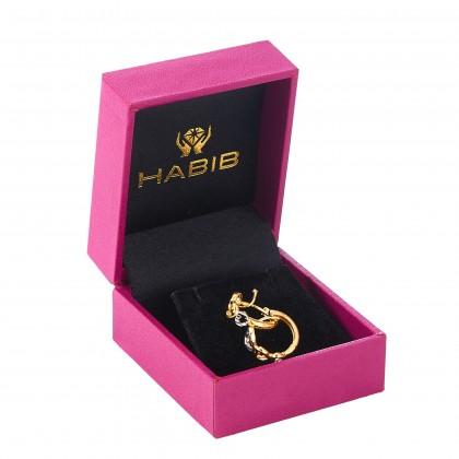 Oro Italia 916 Yellow and White Gold Earrings (2.36G) GE71930321