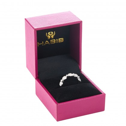 Halo and Bezel Set Round Diamond Ring in 417/10K White Gold R56723DIA10WOH03