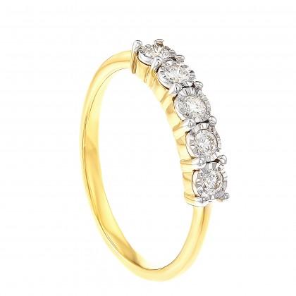 Alysha Diamond Ring in 375/9K Yellow Gold 24628