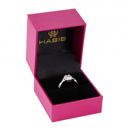 Fire On Ice Sparkle Diamond Ring in 375/9K Yellow Gold 24946