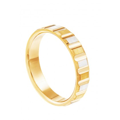 Oro Italia 916 White and Yellow Gold Ring (4.58G) GR45850421(YW)-BI