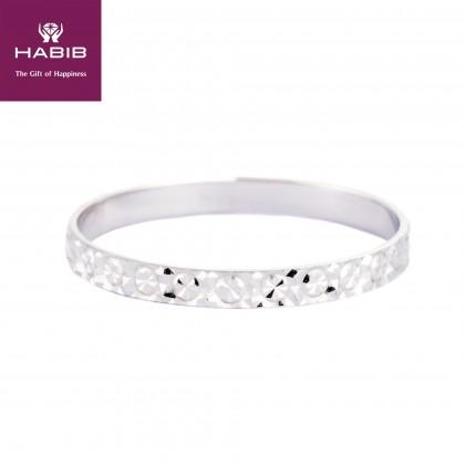 Spruce Ring in 750/18K White Gold GRT100