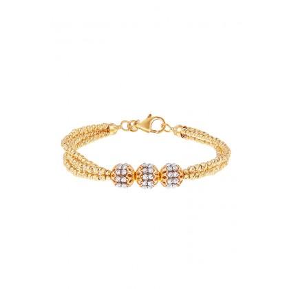 Oro Italia 916 White and Yellow Gold Bracelet (16.26G) GW3501-BI