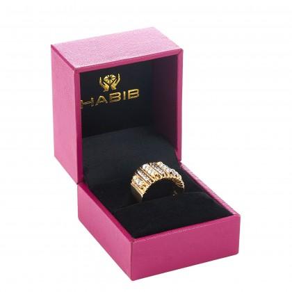 Oro Italia 916 Sicilia White and Yellow Gold Ring (6.25G) GR4268-BI