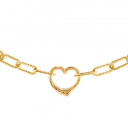 Oro Italia 916 Graffetta Yellow Gold Bracelet (12.01G) GW37530321