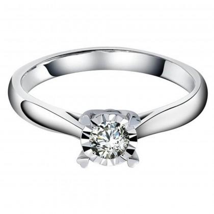 Heart Illusion Diamond Ring in 375/9K White Gold 24509