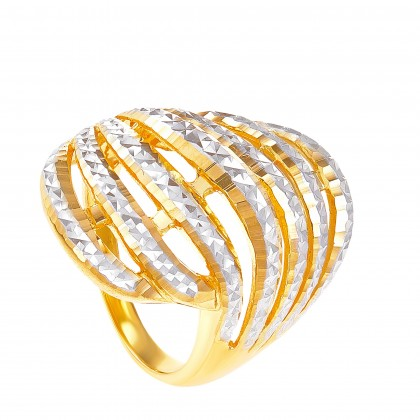 Sylvia Yellow and White Gold Ring, 916 Gold (8.28G) R63820221
