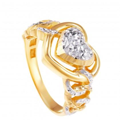 Davira Yellow and White Gold Ring, 916 Gold (5.65G) R64011220