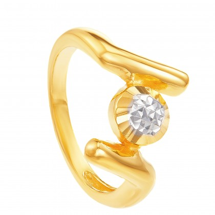 Dosne Yellow and White Gold Ring, 916 Gold (3.34G) R64590521